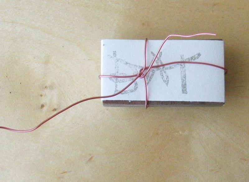 Bat stamp gift wrap