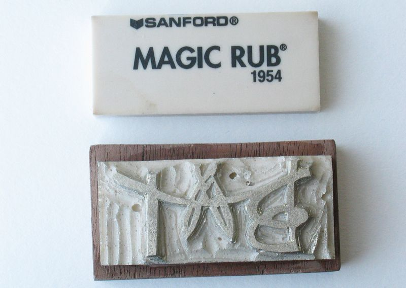 Magic rub stamp!