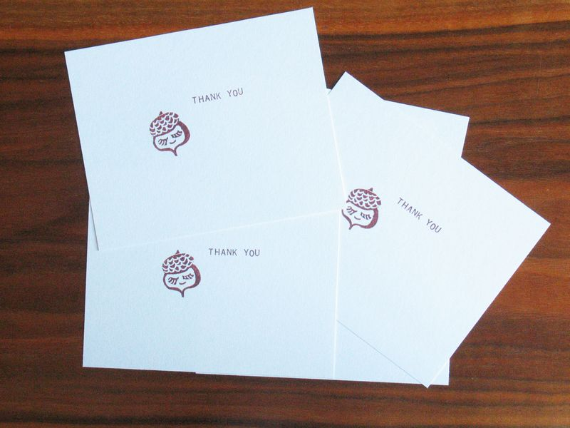 Acorn stamp thank you cards