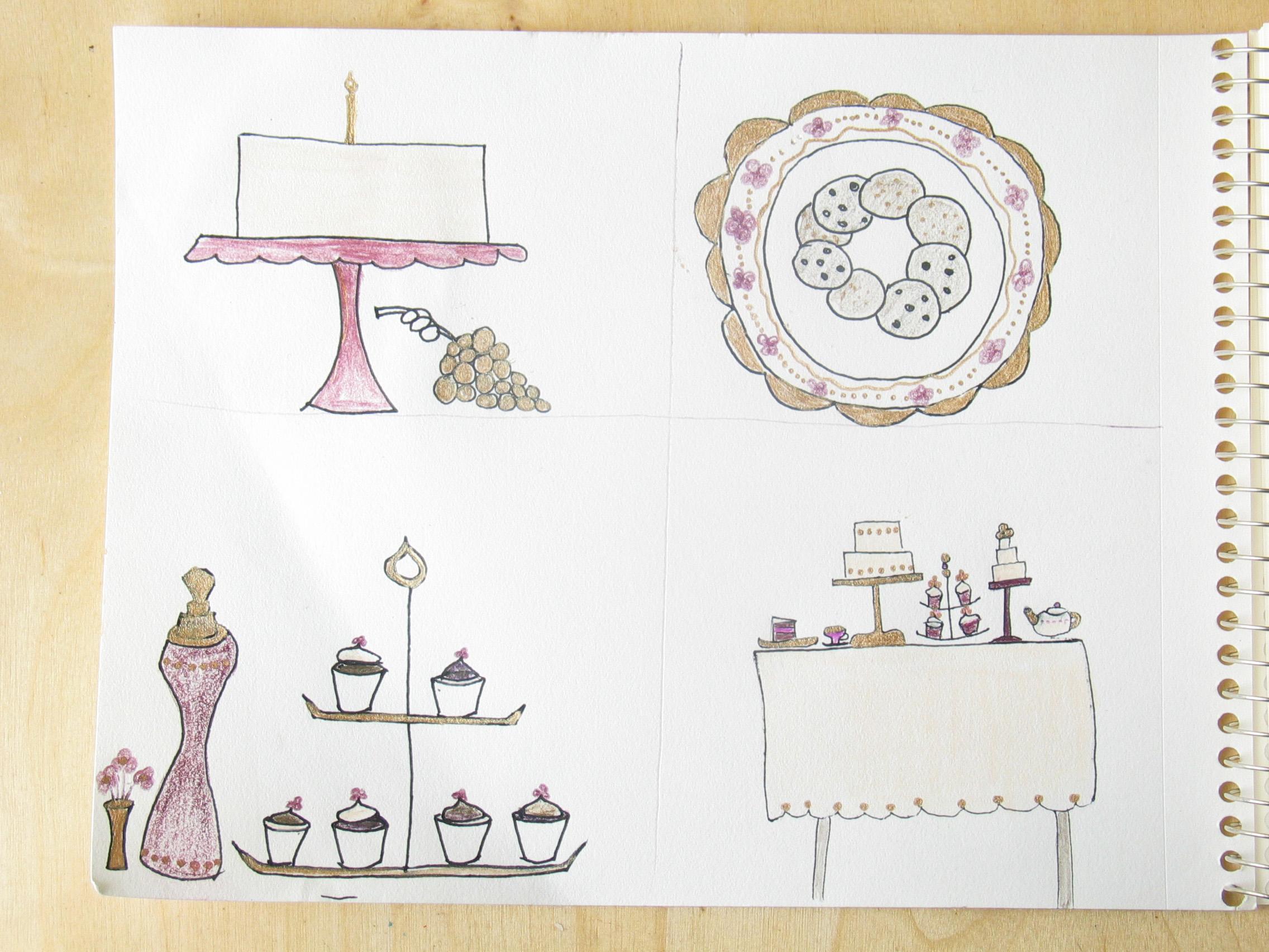 Violet sweet shop sketch 1