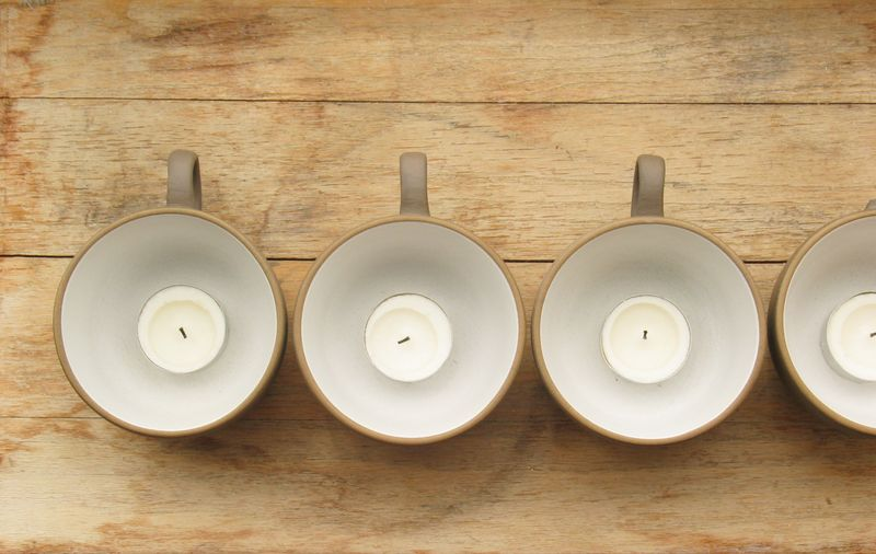 Heath candle cups