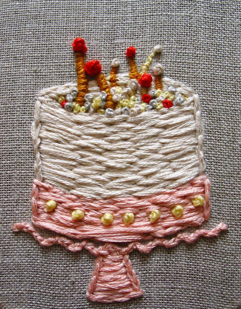 Embroidery Leah's Cake3