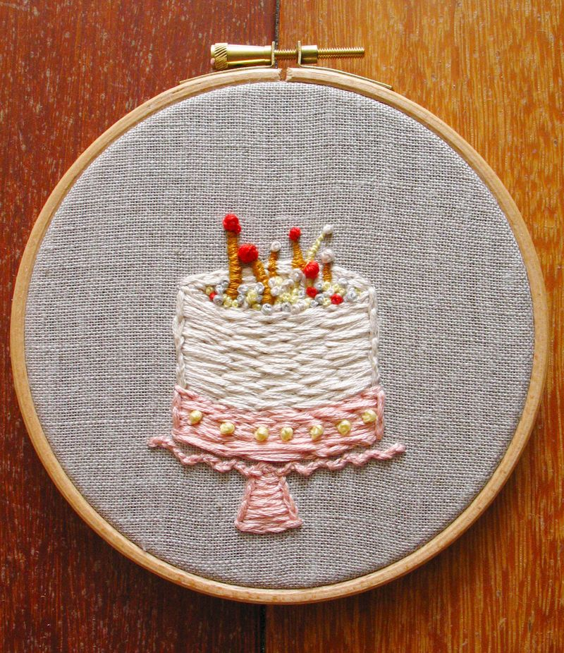 Embroidery Leah's Cake5