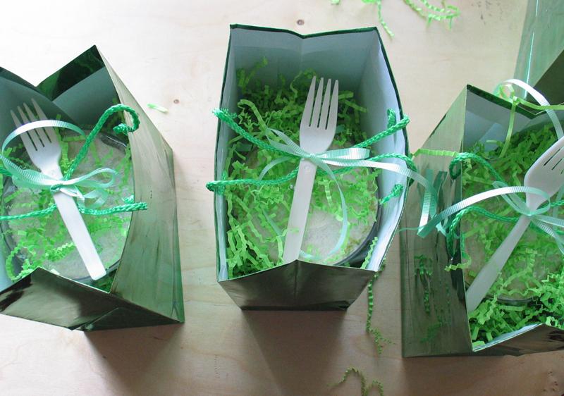 Margarita cupcakes forks