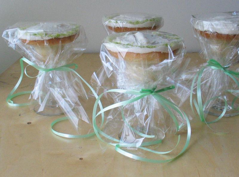 Margarita cupcakes ribbons