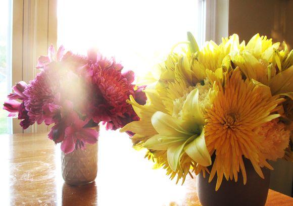Grocery store flower sun