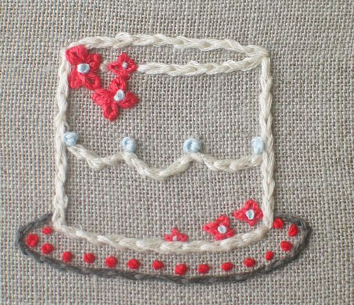 Cake embroidery 1