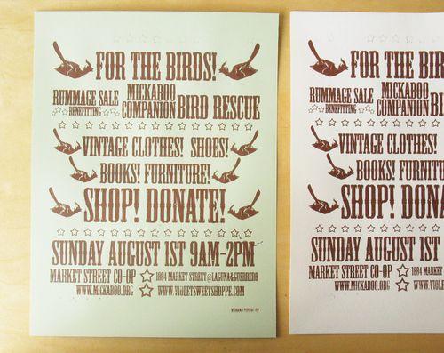 Mickaboo letterpress poster