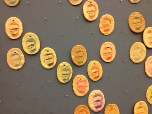 Todd Selby cookie wall for Edible Selby book launch party.