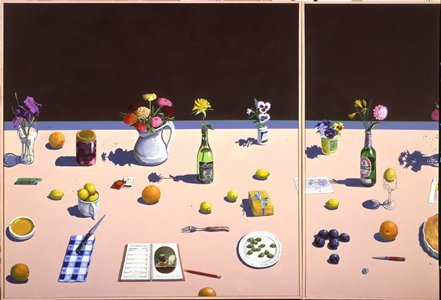Paul Wonner's Dutch Still Life with Lemon Tart and Engagement Calendar.